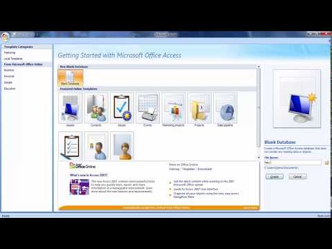 Microsoft Office Access 2007 Database Student Admission Detail