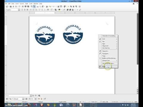 Insert picture in Libre Office Writer