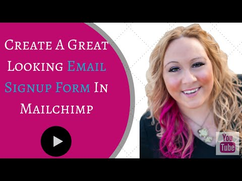 Create Email Signup Form In Mailchimp