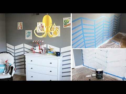 How to Paint a Fun Chevron Pattern on Your Walls
