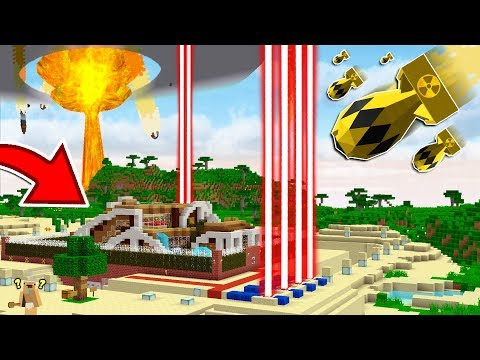 WORLD'S SAFEST HOUSE vs MINECRAFT NUKE MISSILES!?... (EXTREMELY DANGEROUS)