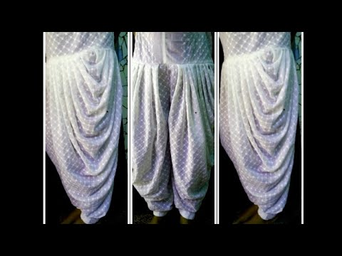 How to cut and stitch dhoti salwar with mohri