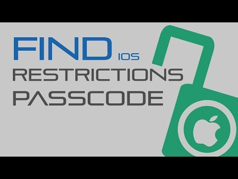 How to recover ios restrictions passcode