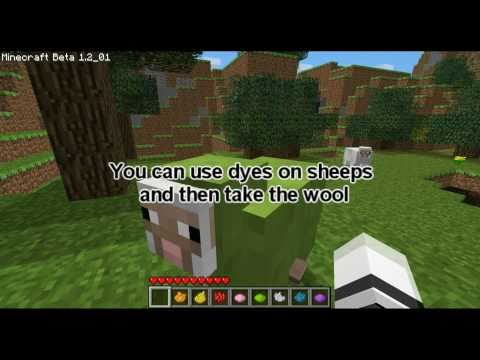 All Wool Dyes - MinecraftTutorial