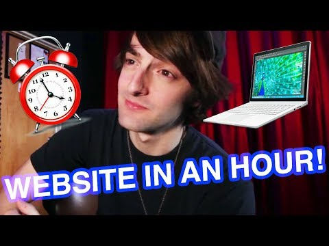 How to Make a Website in Under an Hour!