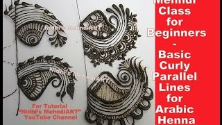 Mehndi Class for Beginner- Basic Curly Parallel Lines for Arabic Henna