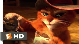 Puss in Boots (2011) - Rooftop Chase Scene (1/10) | Movieclips