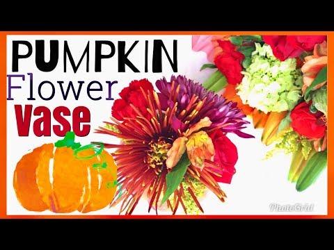 Carving Foam Pumpkins | Fall Floral Pumpkin Centerpieces