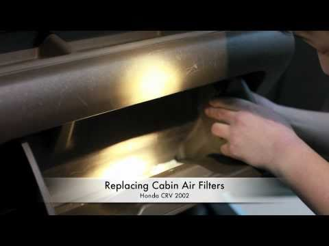 Replacing Cabin air filters on Honda CRV 2002
