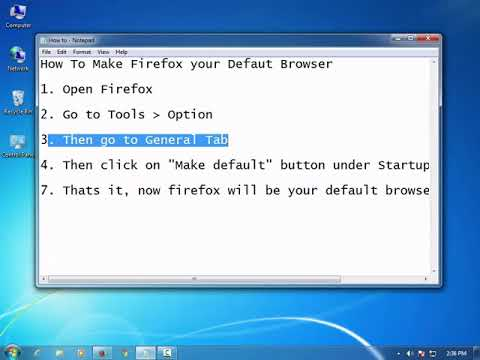 How to make firefox your default browser