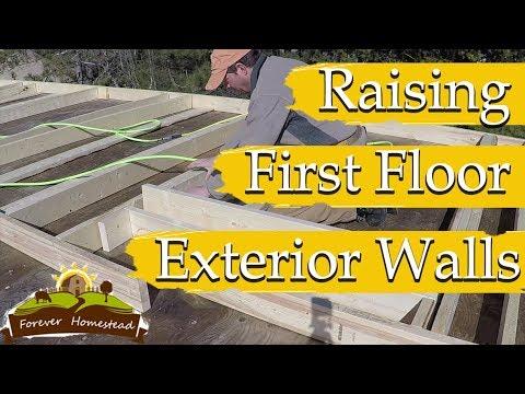 BUILDING EXTERIOR WALLS (Partial Timber Frame House Build  ) S03E08