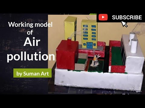 How to make a working model of air pollution  for science project/ model no.3