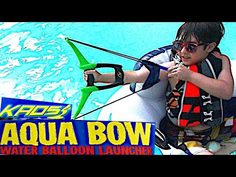 Kaos Aqua Bow Water Balloon Launcher with best bros, Rob-Andre and Will-Haik!