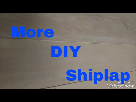 Shiplap again!!! Different spin on the normal