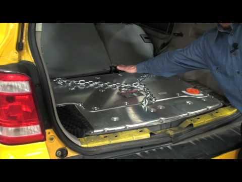 Ford Hybrid Taxi Teardown battery