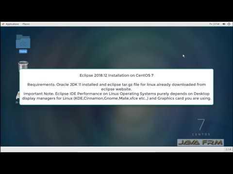 Eclipse 2018-12 Installation on CentOS 7  and Java 11 Modular Programming