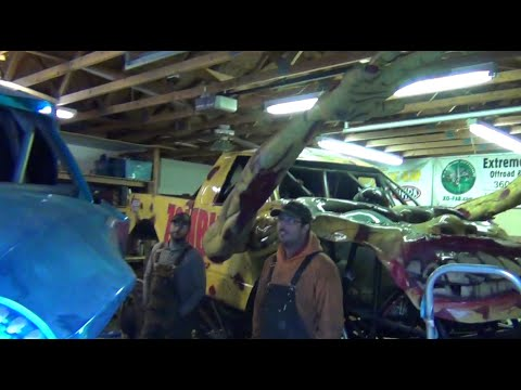 Mirror Image Racing shop tour -Getting ready for Monster Jam winter 2015