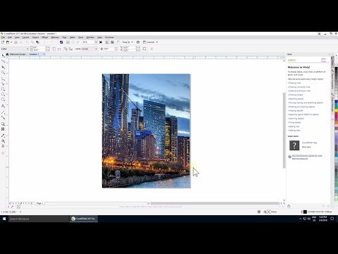 How to create a background picture in CorelDRAW 2017 - Tutorial