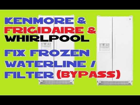 Kenmore  Refrigerator , Frigidaire , Whirlpool and more Frozen waterline / filter fix
