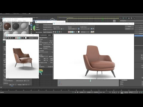 3d modele_Armchair with armrests_Leather quickly