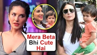 Sunny Leone ANGRY REACTION On Her Son Being Compared To Taimur Ali Khan