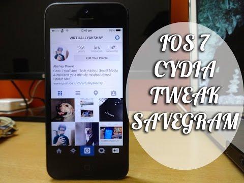 iOS 7 Jailbreak Tweak : SaveGram - Save Instagram Photos and Video (Easiest Method)
