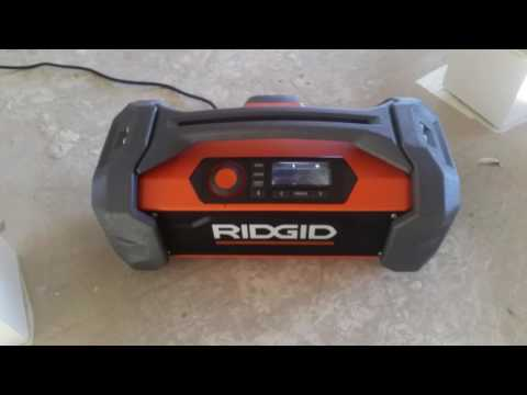 RIDGED GEN5X 18V BLUETOOTH RADIO SPEAKER JOBSITE RADIO REVIEW