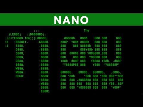 Nano Editor Fundamentals