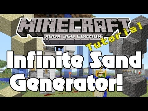 Minecraft Xbox: How To Build A Sand/Gravel Generator - Infinite Sand & Gravel | HD