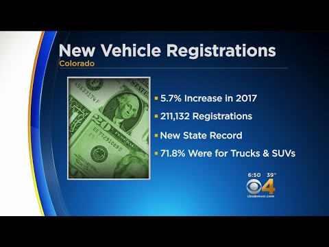New Vehicle Registrations Sees Record High In Colorado