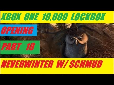 Xbox One 10,000 Lock Box Open Day 18 Neverwinter With Schmudthedarth