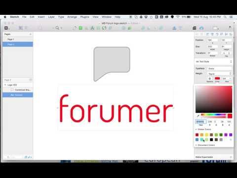 Logo creating in sketch app