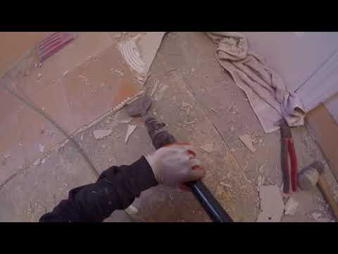 How To Remove Tile. Faster and Easier. DIY. A to Z. Shot with GoPro.