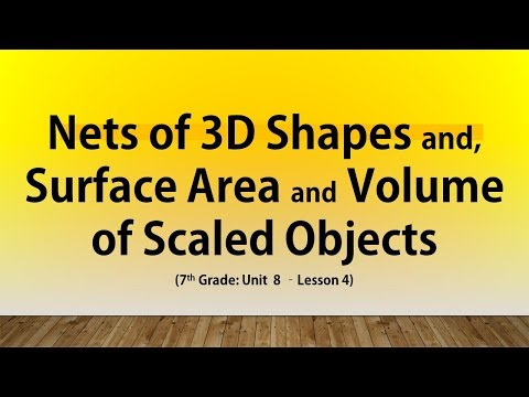 Nets of 3D Shapes and, Surface Area and Volume of Scaled Objects (7th Grade Unit 8 Lesson 4)