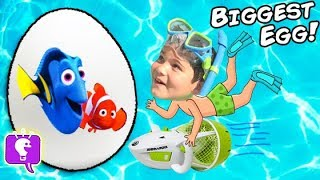 Giant SWIM Surprise Egg and SeaDoo with HobbyKids