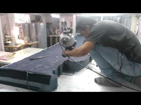 Jeans cutting table
