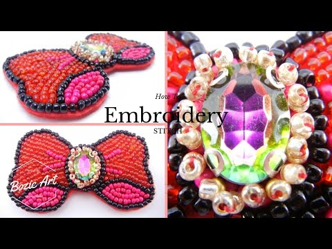 🔰 Beading Tutorial : Embroidery Brooch