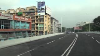 Newly opened 8 miles Junction bridge in Yangon, Myanmar.