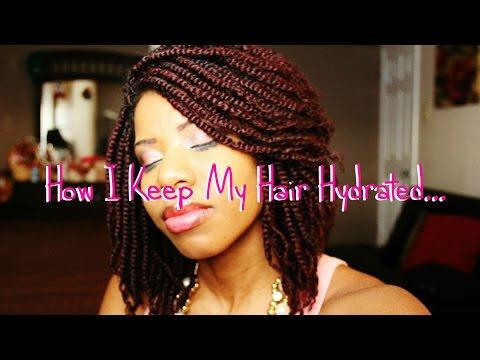 CROCHET BRAIDS: Moisturizing & Sealing My Hair