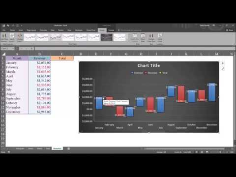 Creating Waterfall Charts in Microsoft Excel 2016