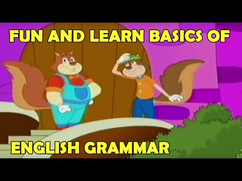 Fun and Learn Basics of English Grammar for Children & Kids Learning With Funny Animated Cartoons