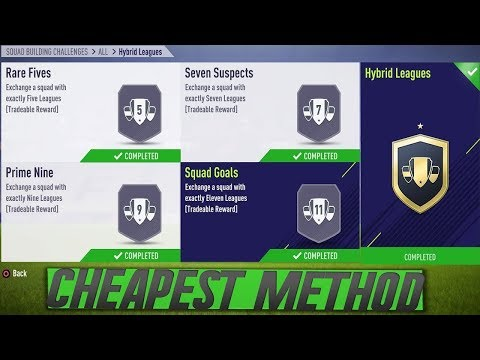 FIFA 18 Hybrid Leagues SBC Completed for less then 30K!! | Cheapest & Easiest Solution