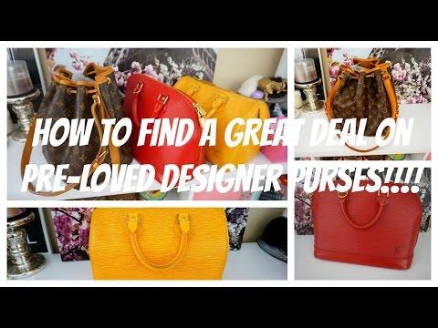 How to find GREAT DEALS on Pre-Loved Designer Handbags!!!