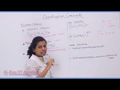 Coordination Compound Chemistry Part-3 std 12th HSC Board Video Lecture BY Rao IIT Academy