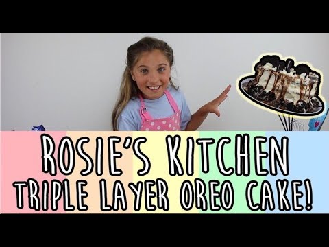 DIY BAKING AN OREO CAKE! | Rosie McClelland