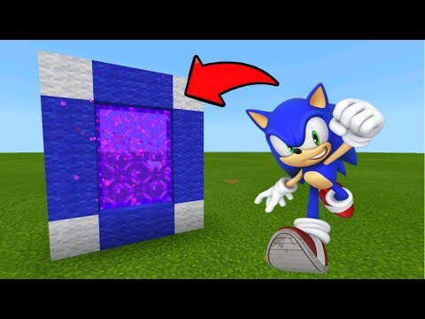 Minecraft Pe How To Make A Portal To The Sonic Dimension - Mcpe Portal To The Sonic!!!