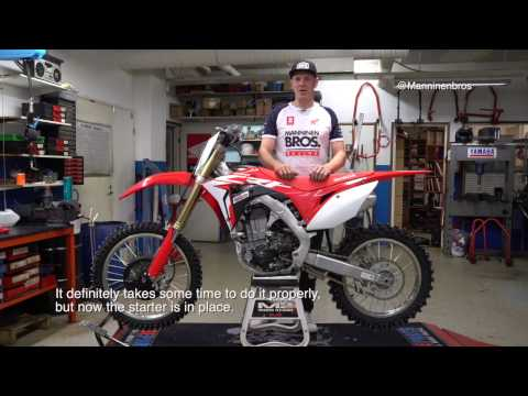 Honda CRF450R Electric Start Installation (step by step how to video)