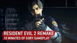 [4k] Resident Evil 2 Remake Gameplay: 10 Minutes Of Nostalgic Zombie Slaying