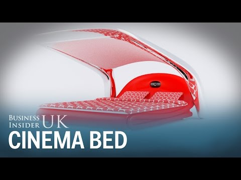 This concept bed transforms into your own home cinema system