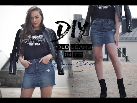 DIY  Old jeans in to denim skirt | Tijana Arsenijevic